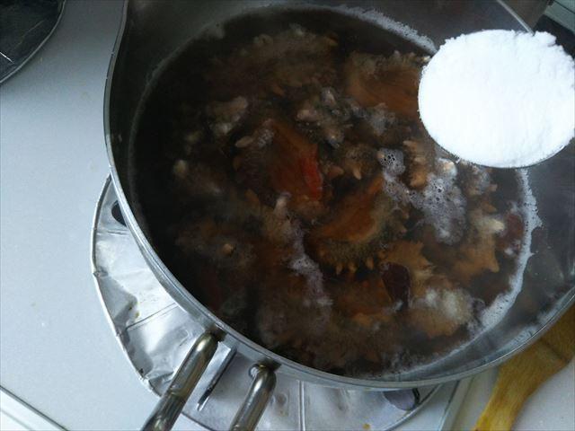 ナマコ煮始め