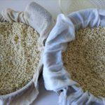 蒸し布と麦