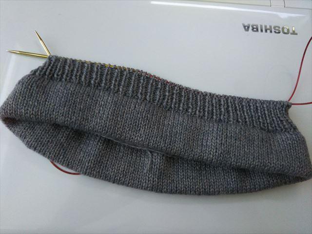 一目ゴム編み