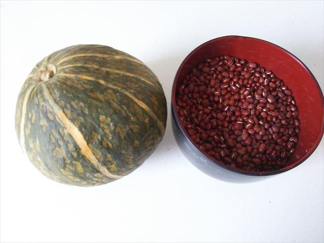 かぼちゃと小豆