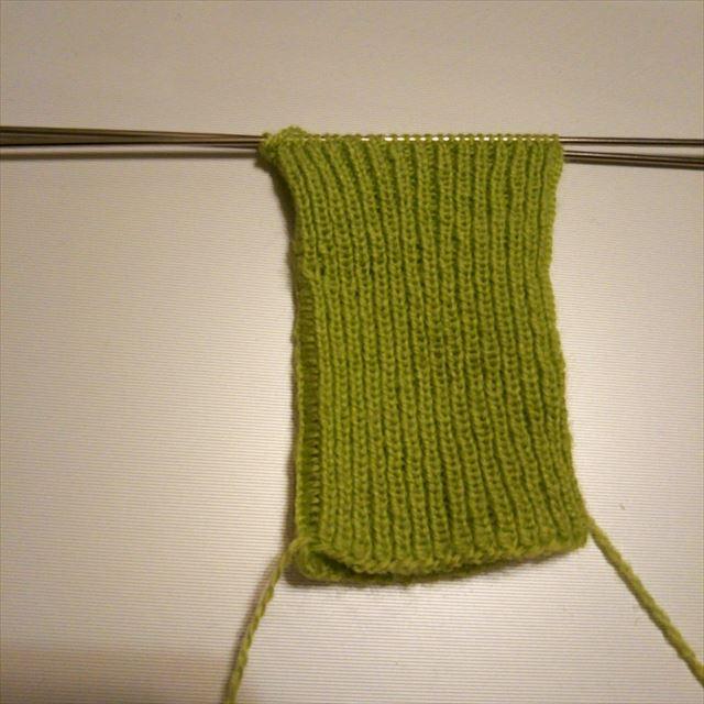 ゴム編み終了